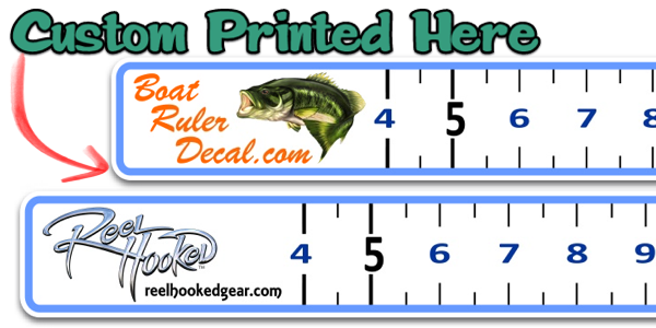 custom boat ruler vinyl decal fish measure tape fishing decal